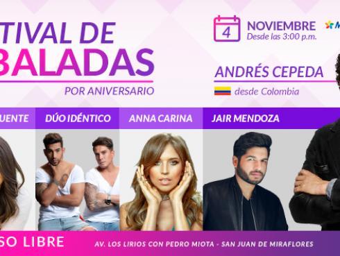 Todos los destalles del 'Festival de Baladas' por nuestro aniversario
