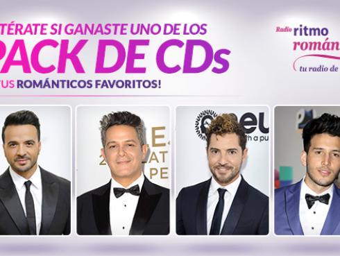 ¡Ganadores de los 3 packs con discos de Luis Fonsi, David Bisbal, Alejandro Sanz y Sebastián Yatra!