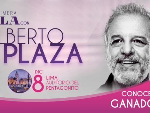 Ganadores de entradas para el concierto de Alberto Plaza en Lima