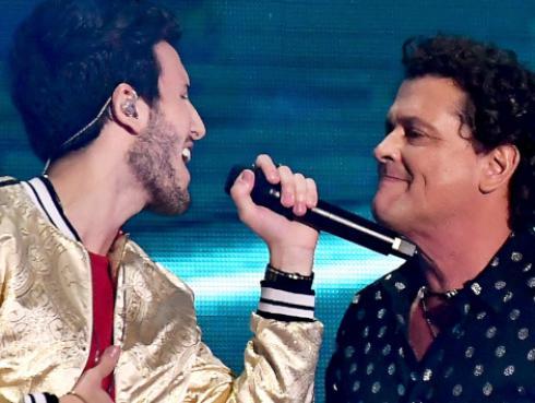 Así celebraron Sebastián Yatra y Carlos Vives la nominación de 'Robarte un beso' a los Latin Grammy