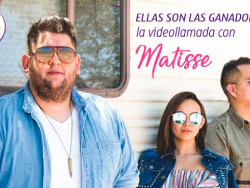 Conoce a las ganadoras de una videollamada exclusiva con Matisse