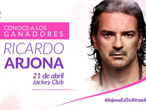 Conoce a los ganadores de las entradas para el concierto de Ricardo Arjona
