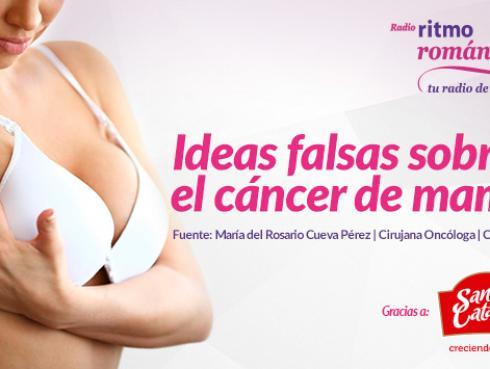Estos son algunos mitos del cáncer de mama