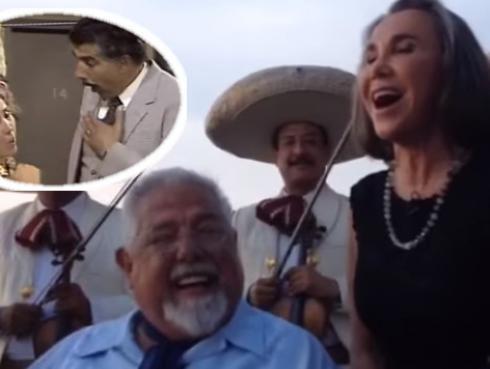 'Doña Florinda' y el 'Profesor Jirafales' interpretaron 'Los cursis'
