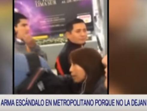¡Esta mujer reaccionó mal, porque no la dejaron colarse en el Metropolitano!