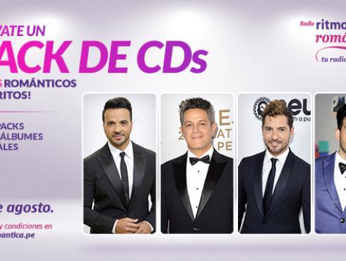 ¡Gana 3 packs con discos de Luis Fonsi, David Bisbal, Alejandro Sanz y Sebastián Yatra!