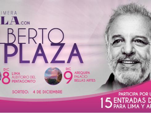 Gana entradas para el concierto de Alberto Plaza en Lima y Arequipa