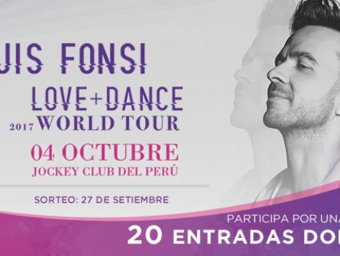 Gana entradas para el concierto de Luis Fonsi en Lima