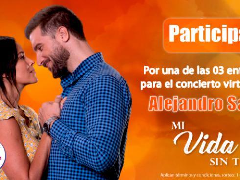 Gana entradas para el concierto virtual de Alejandro Sanz