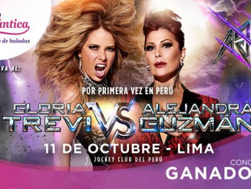 Ganadores de entradas para el concierto de Gloria Trevi y Alejandra Guzmán