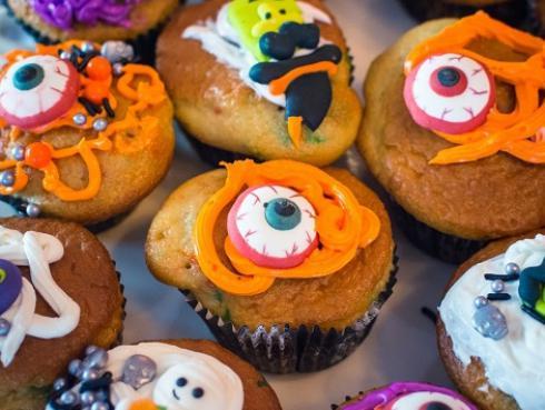 Cupcakes de nueces y calabaza para Halloween