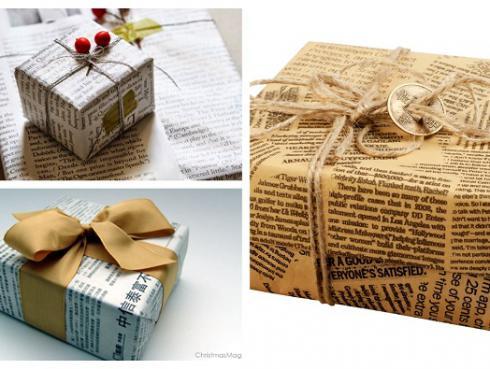 Envuelve regalos de manera ecológica