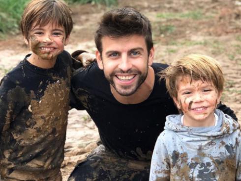 La pelea con barro de los hijos de Shakira con Gerard Piqué