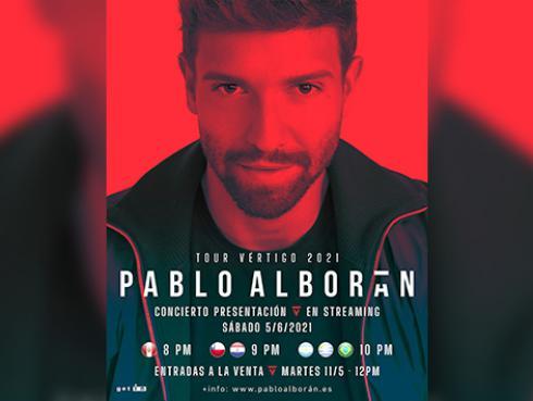 Pablo Alborán anuncia segundo concierto por streaming para el 5 de junio