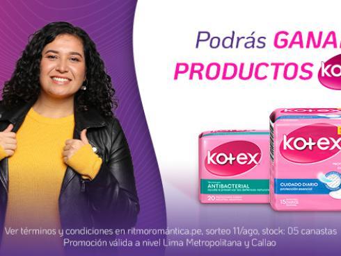 ¡Participa por una de las 05 canastas con productos Kotex!
