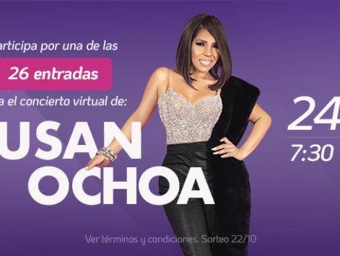 Participa por una entrada para el concierto virtual de Susan Ochoa