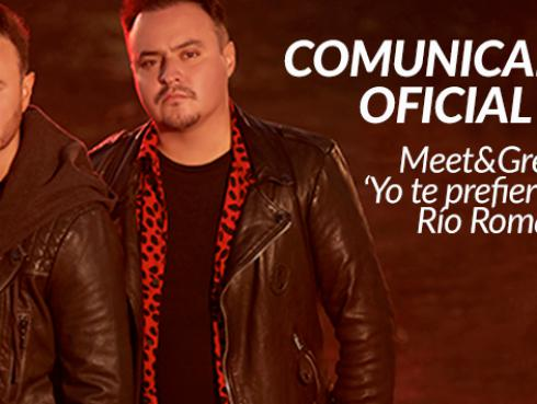Comunicado Oficial: Meet and Greet