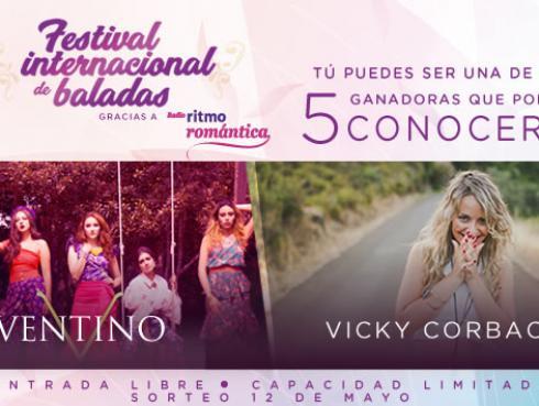 Ganadores que conocerán a Ventino y Vicky Corbacho en el Festival Internacional de Baladas
