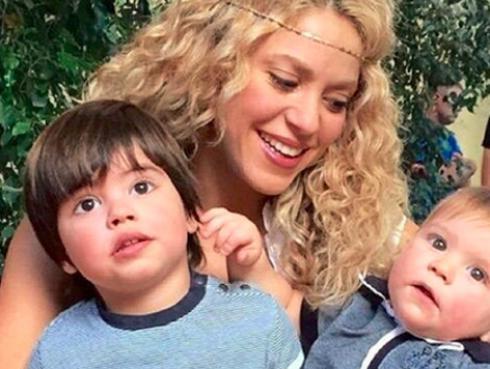 Shakira publicó tierna foto con sus hijos Milan y Sasha