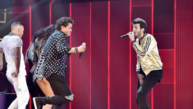 Sebastián Yatra fue el invitado especial de Carlos Vives en su último show de 2018