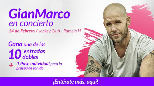 Gana entradas para el concierto de GianMarco este 14 de febrero