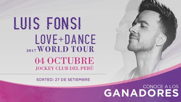 Conoce a los ganadores de las entradas para el concierto de Luis Fonsi en Lima