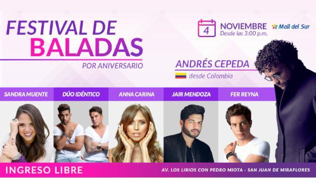 Todos los detalles del 'Festival de Baladas' por nuestro aniversario
