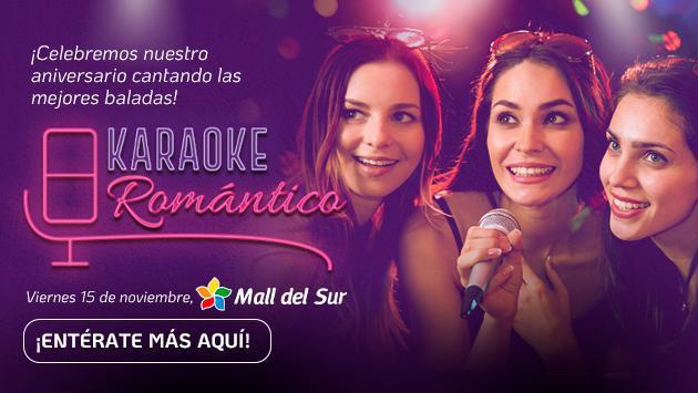 ¡Acompáñanos a celebrar el aniversario de Ritmo Romántica con un Karaoke Romántico!