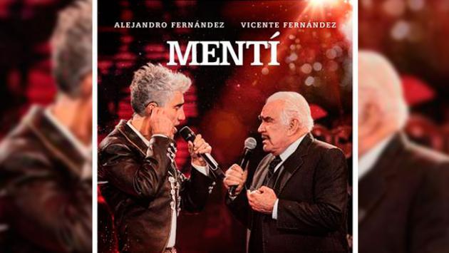 """Alejandro Fernández estrena el vídeo de """"MENTÍ"""", un dueto histórico celebrando el día del padre junto a Vicente Fernández."""