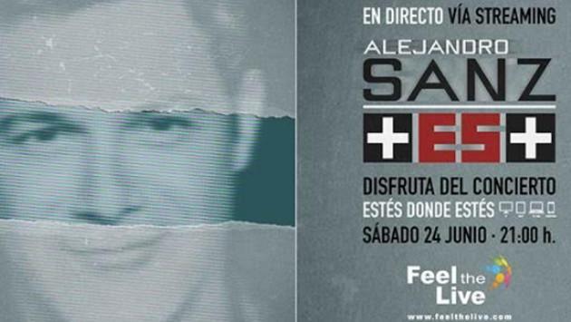 Alejandro Sanz anuncia concierto vía streaming
