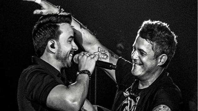 Alejandro Sanz y Luis Fonsi cantaron juntos en concierto en Miami