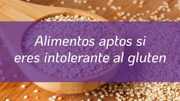 Alimentos aptos para personas con intolerancia al gluten