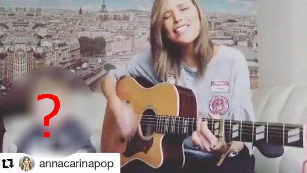 Anna Carina Copello canta con el acompañante más tierno que podría haber [VIDEO]