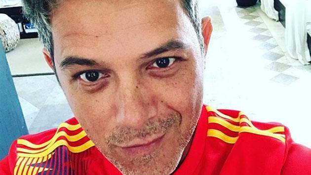 Así apoyó Alejandro Sanz a Colombia en la fiesta mundialista