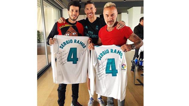 Así reaccionó Sebastián Yatra luego de conocer futbolistas del Real Madrid