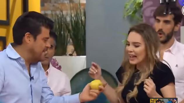 Belinda demostró que puede partir una manzana con su frente, pero ¿esta acción es riesgosa para la salud?