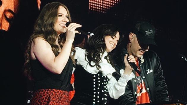 Noel Schajris, Jesse y Joy se presentaron de sorpresa en concierto de Camila Cabello