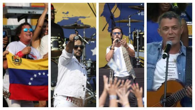 Carlos Vives, Diego Torres, Luis Fonsi, Alejandro Sanz y muchos artistas más se presentaron en el 'Aid Live Venezuela'