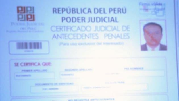 Certificados de antecedentes penales ya se pueden obtener desde hoy por internet