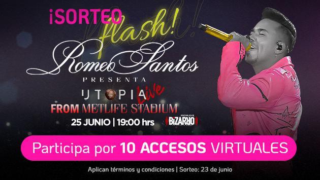 ¡Conoce a los ganadores de un acceso para el concierto virtual de Romeo Santos!