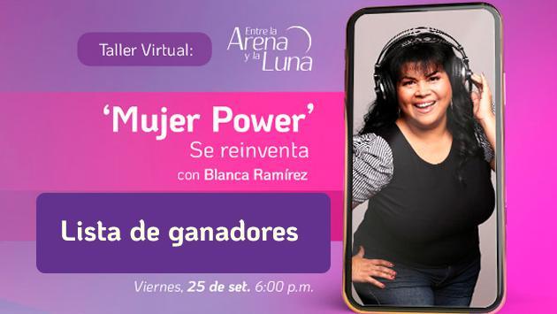 Conoce a los ganadores de Concurso 'Mujer power se reinventa' Taller Virtual