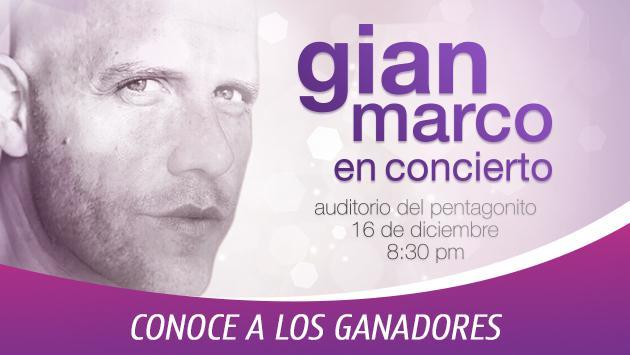 Conoce a los ganadores de entradas para el concierto de GianMarco