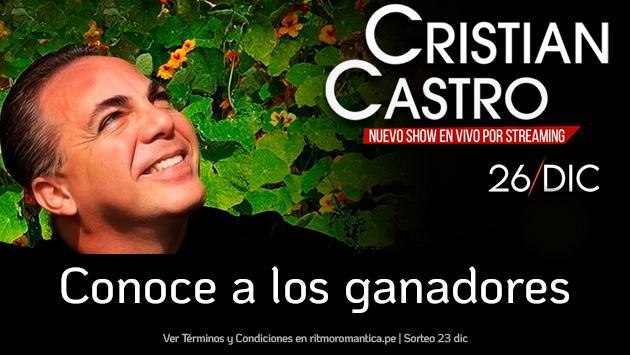 Conoce a los ganadores del concierto virtual de Cristian Castro