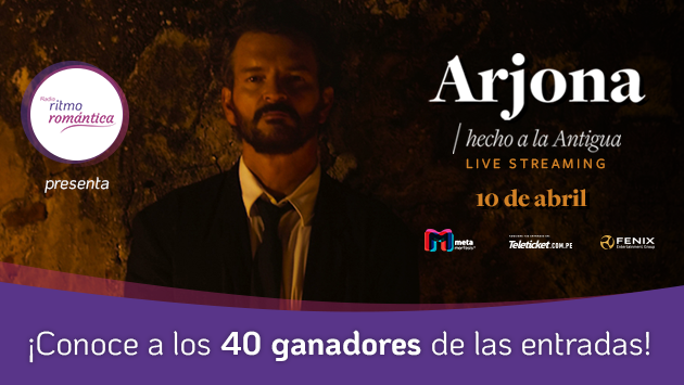 Conoce a los ganadores del concierto virtual de Ricardo Arjona