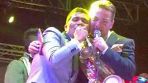 Cristian Castro y el Grupo 5 cantaron juntos en Bolivia
