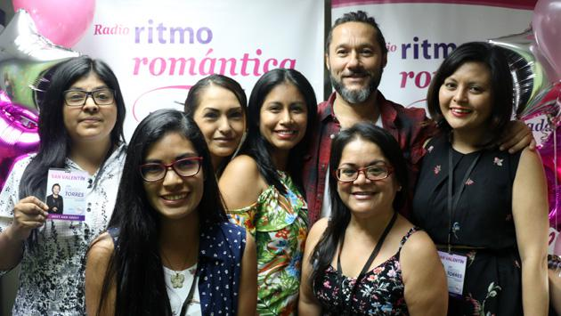 Diego Torres estuvo en cabina de Ritmo Romántica y fue nuestro San Valentín