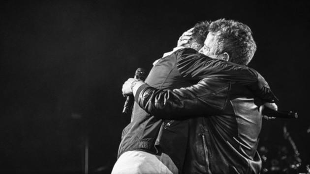 El abrazo de Alejandro Sanz y Pablo López que quedará para el recuerdo