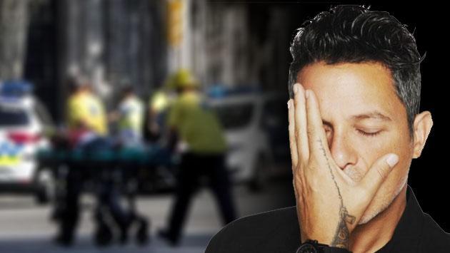 El mensaje de Alejandro Sanz tras el atentado terrorista en Barcelona, España