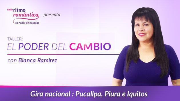'El poder del cambio' con Blanca Ramírez llega a Pucallpa, Piura e Iquitos