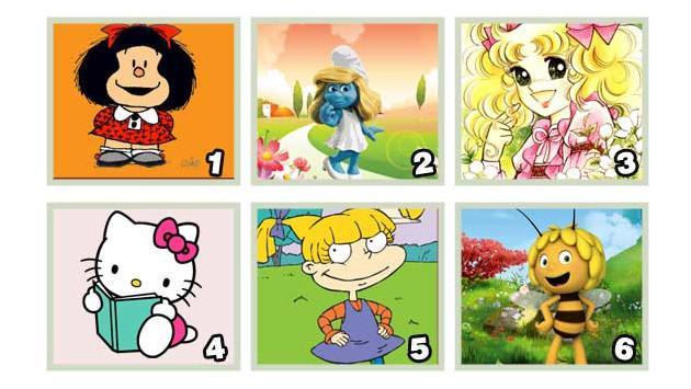¡Escoge el personaje animado que más te gusta de la imagen y descubre rasgos de tu personalidad!